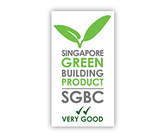 Singapore Green Building Product logo, with VERY GOOD rating